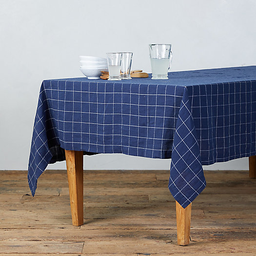 View larger image of Lithuanian Linen Tablecloth, Windowpane