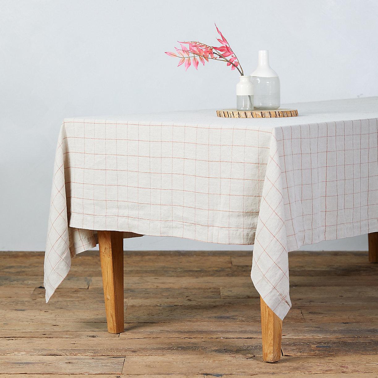 Lithuanian Linen Tablecloth, Windowpane - Terrain