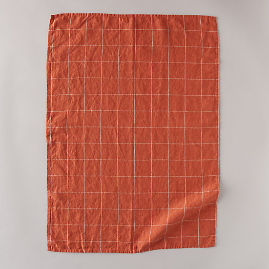View larger image of Lithuanian Linen Tea Towel, Windowpane