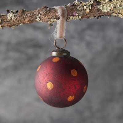 Polka Dot Globe Ornament