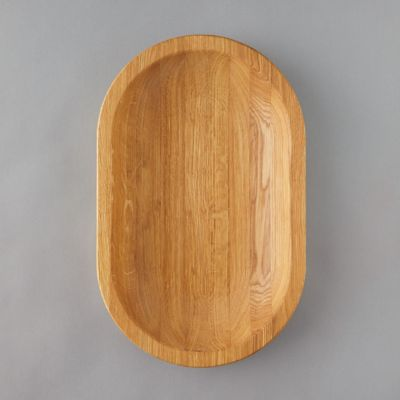 Oval Oak Serving Tray, Medium
