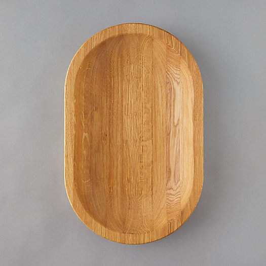View larger image of Oval Oak Serving Tray, Medium