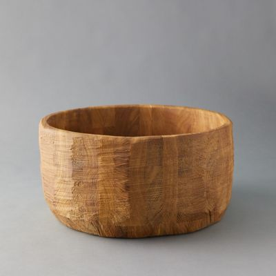 Oversized Oak Serving Bowl