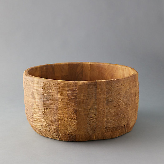 View larger image of Oversized Oak Serving Bowl