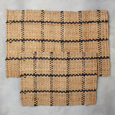 Windowpane Jute Doormat