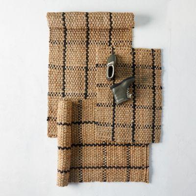 Windowpane Jute Doormat