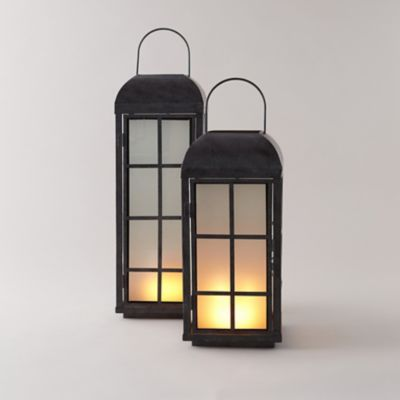 Frosted Windowpane Lantern