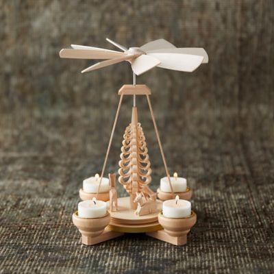Woodland Tea Light Rotary Candle