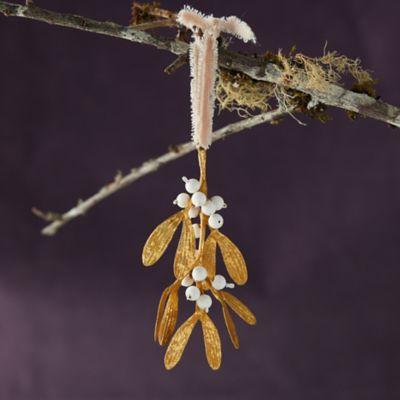 Gold Mistletoe Ornament