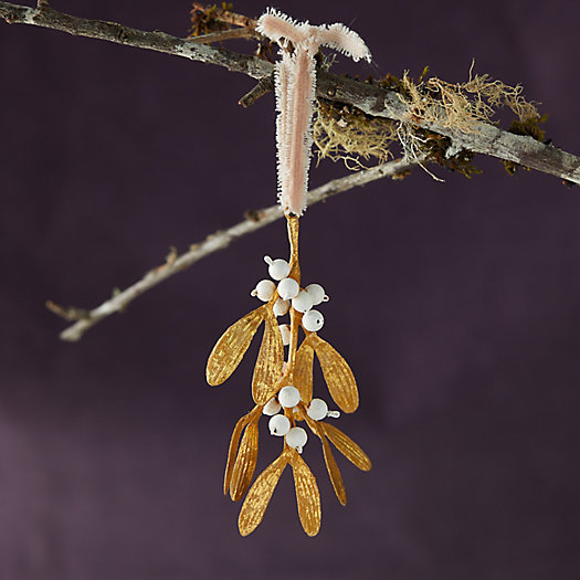 View larger image of Gold Mistletoe Ornament