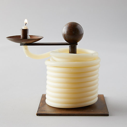 View larger image of Iron Candle Holder + Spiral Candle