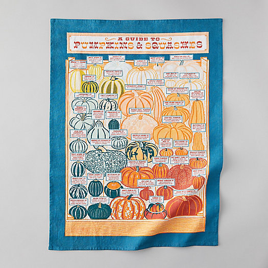 View larger image of Pumpkin + Squash Tea Towel
