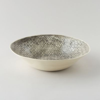Color Washed Pebble Serving Bowl
