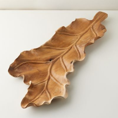 Oversized Teak Leaf Serving Board