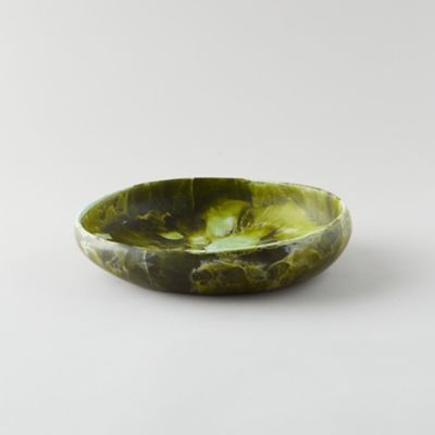 Swirled Resin Serving Bowl
