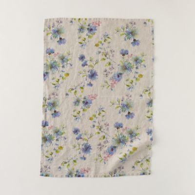 Lithuanian Linen Tea Towel, Floral