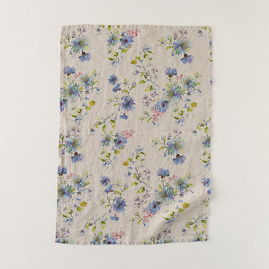 View larger image of Lithuanian Linen Tea Towel, Floral