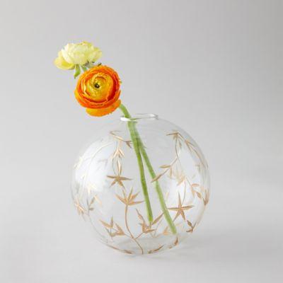 Gilded Etched Bauble Vase