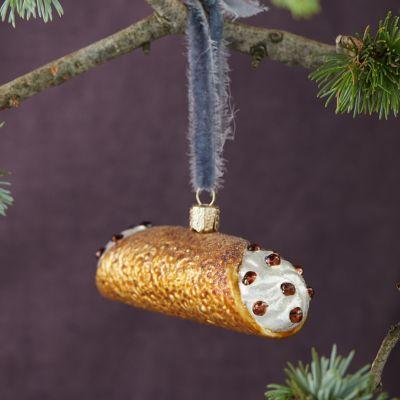 Glass Cannoli Ornament