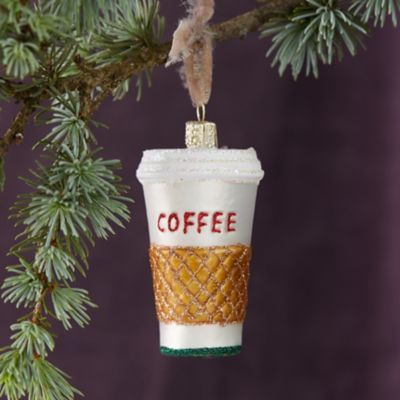 To Go Coffee Glass Ornament
