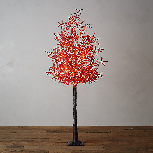View larger image of LED Faux Leaf Tree, Red