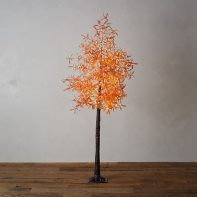 LED Faux Leaf Tree, Orange
