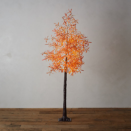 View larger image of LED Faux Leaf Tree, Orange