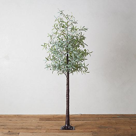 Led Faux Leaf Tree Olive Terrain