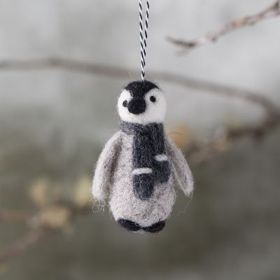 Felted wool penguin Christmas tree ornament - Come discover 23 Frugally Fabulous Holiday Decorating Finds Under $20 + Funny Quotes! #holidaydecor #lowcost #decorinspiration