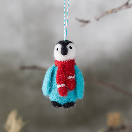 View larger image of Felted Wool Penguin Ornament