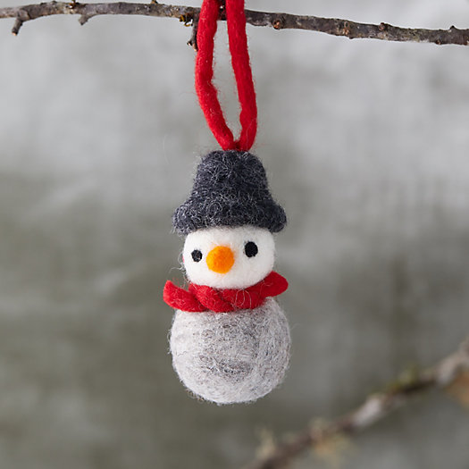 View larger image of Felted Wool Snowman Ornament