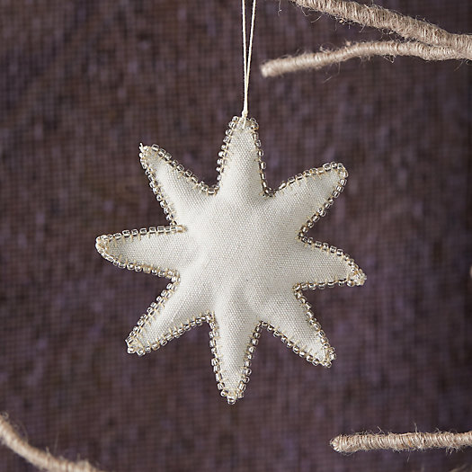 View larger image of Beaded Star Fabric Ornament