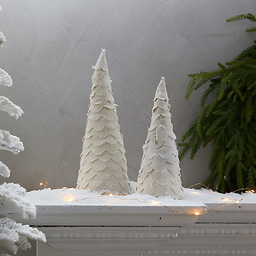 View larger image of Scalloped Fabric Christmas Tree