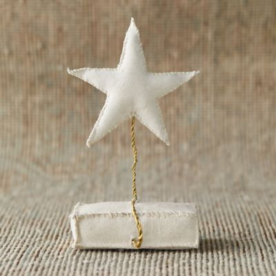 Fabric Star Stocking Holder