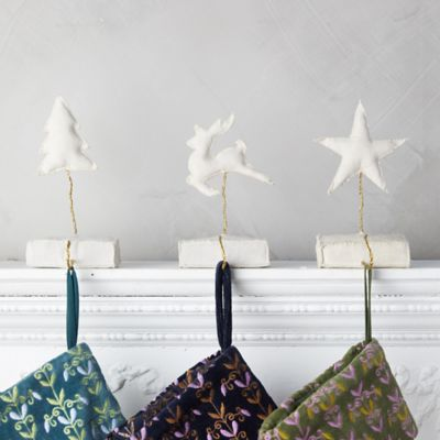 Fabric Evergreen Tree Stocking Holder