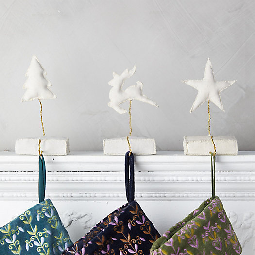 View larger image of Fabric Evergreen Tree Stocking Holder