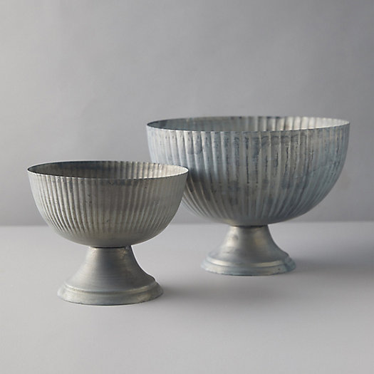 View larger image of Fluted Footed Zinc Bowl