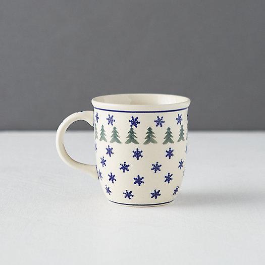 View larger image of Snowflake + Evergreen Mug
