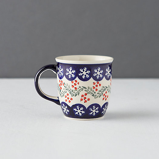 View larger image of Snowflake +  Holly Berry Mug
