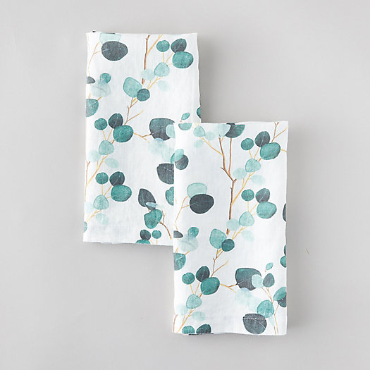 View larger image of Eucalyptus Linen Napkin Set, White