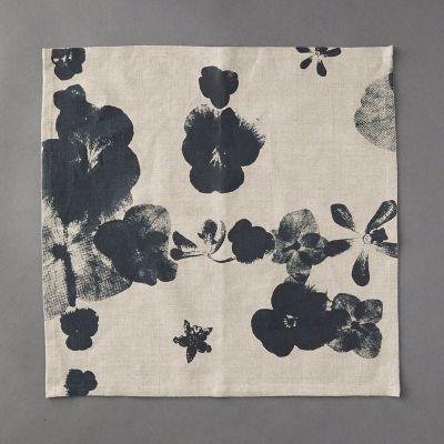 Indigo Floral Linen Napkin