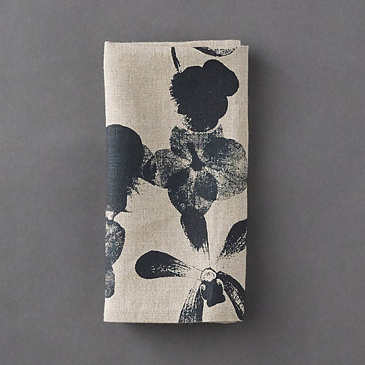 View larger image of Indigo Floral Linen Napkin
