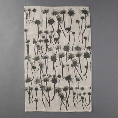 Indigo Botanical Linen Tea Towel