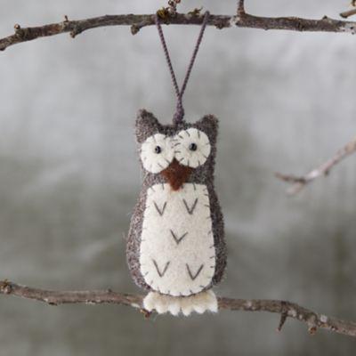 Hoot Owl Felt Ornament