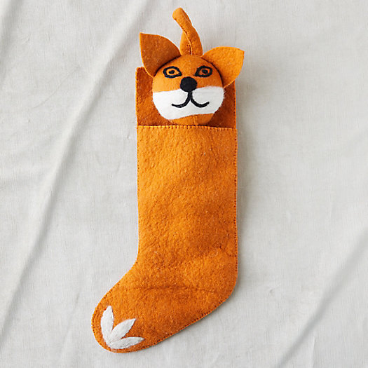 View larger image of Felt Wool Fox Stocking