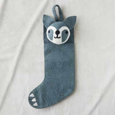 Felt Wool Raccoon Stocking