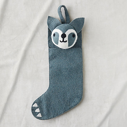 View larger image of Felt Wool Raccoon Stocking
