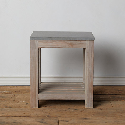 View larger image of Stone + Teak End Table