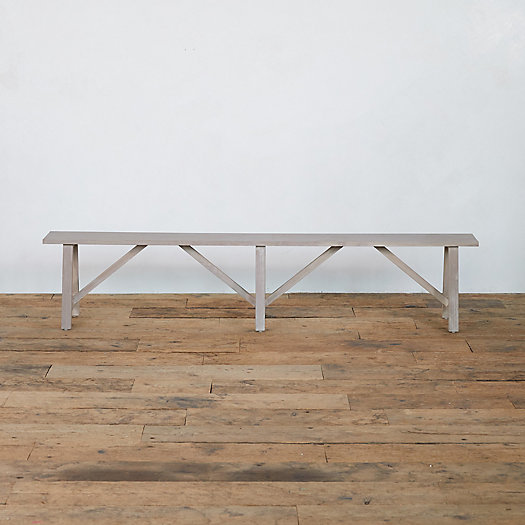 View larger image of Trestle Teak Bench