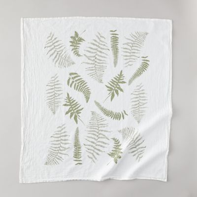 Fall Fronds Tea Towel